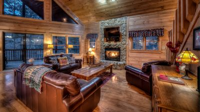 Photo for All Decked Out- Screened Porch | Outdoor Fireplace | Luxurious Hot Tub