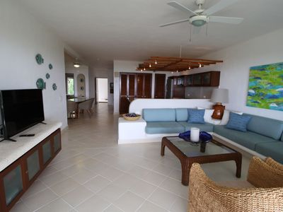 Photo for Villa with OCEANFRONT PATIO in Paradise! Nesting Turtles, Pool Access + More!