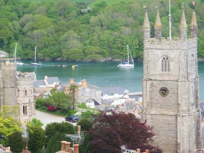 Photo for Magical Cornish Cottage & Garden. Stunning Views of River Fowey & Church
