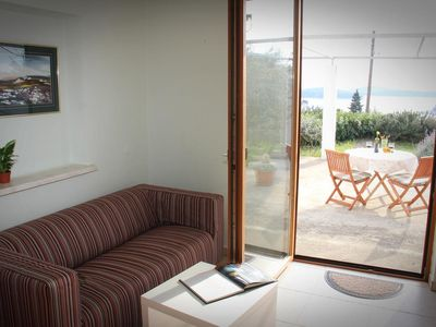Photo for Two bedroom apartment with terrace and sea view Hvar