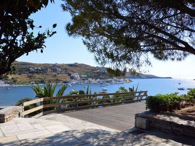 Photo for Luxurious villa with a guest house overlooking the Bay of Vourkari