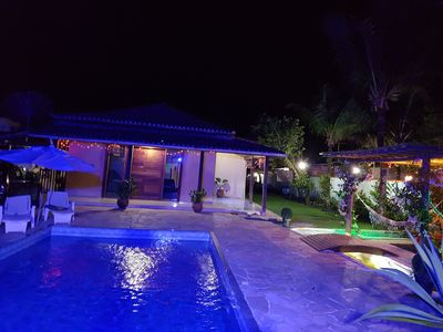 Photo for House with 3 bedrooms and 1 suite, pool, sauna, barbecue, koi pond