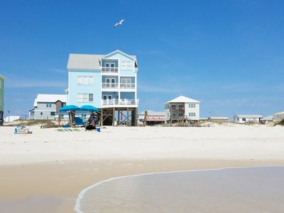 Photo for Perfect Beachfront 5-bedroom home, one of the closest homes to the water's edge.
