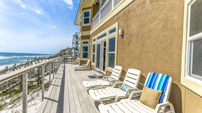 Photo for Gulf Front Inlet Beach Home `Bull and Bear` with Amazing Gulf Views + 6 Bikes!