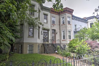 The apartment is nestled in one of the most historic neighborhoods in the city.