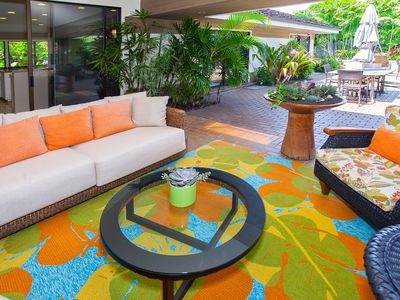 Photo for Kahala Retreat With Poolside Cabana Sleeps 10! Beach Close! Book Now!