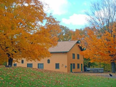Photo for Beautiful Town Home style Cabin Rental on theThanes river near Lake Mille Lacs