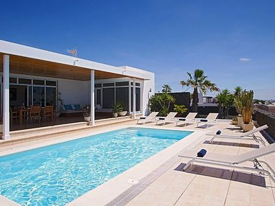 Photo for This 3-bedroom villa for up to 6 guests is located in Puerto Calero and has a private swimming pool,