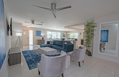 Photo for Starfruit Beach House-Heated Pool-Grill-Bikes-Walk to Beach