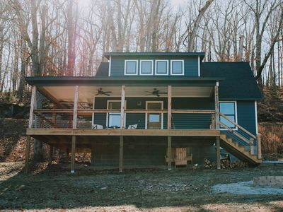 Photo for Cozy Modern Cabin on Beaver Lake! One of a kind find, lake front retreat!
