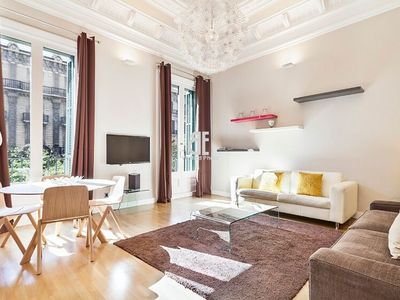 Photo for Homes in Blue - Beautiful 1 bedroom, 1 bathroom apartment located in one of Barcelona's favorite streets, Rambla Catalunya.