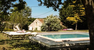 "Photo for Gîte ""Ile de Ré"" with swimming pool of 7x7m, 20 minutes from the beaches"