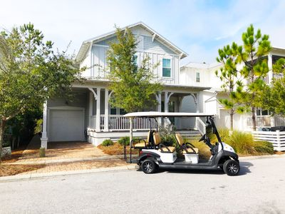 Photo for Pet Friendly! 6 Seater Golf Cart, pool access.