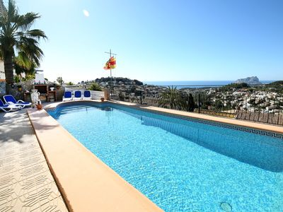 Photo for This 4-bedroom villa for up to 8 guests is located in Benissa and has a private swimming pool, air-c