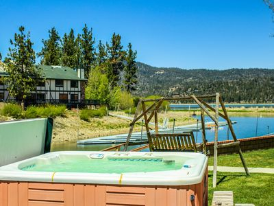 Photo for Lakefront w/ private hot tub, plenty of room, and dog-friendly attitude!