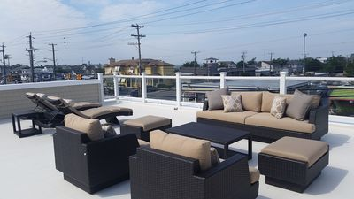 Photo for Oceanside private Second floor with Roof Top Deck Center of Harvey Cedars