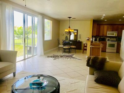 Photo for BBig andf beautiful pets friendly lake views home! Fish from your backyard!