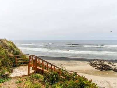 Photo for Gorgeous oceanfront home w/ direct beach access, home comforts & ocean views!