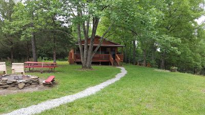 Photo for Family and Friends Rustic Cabin Retreat, WIFI, near Rustic Oaks Wedding Renue