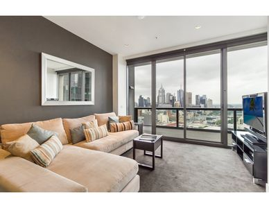 Photo for Sky high apartment with views of river and city