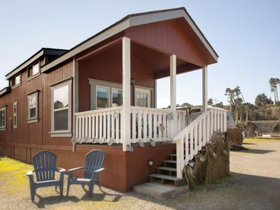 Photo for Tiny home in the historic Noyo Harbor/ furnished deck, Awesome views and sounds