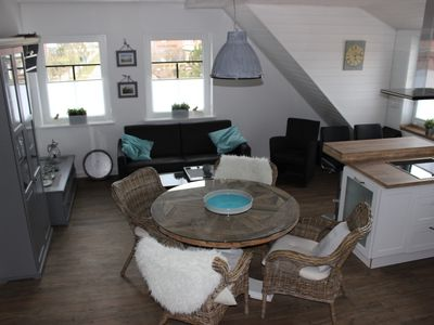 Photo for Exclusive apartment with large roof terrace near the beach with sauna