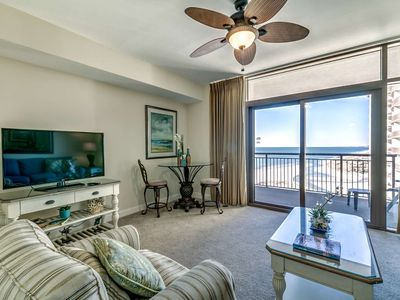 Photo for Great Couple's Getaway! King Size Bed, 15th Floor Ocean Views