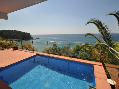Photo for Vacation Villas- Villa Sol Solet. Facing the sea, Private pool, AA, WiFi