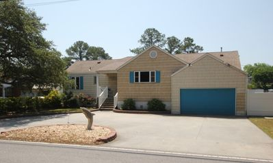 Photo for Waterfront House w/Dock-Salt Water Pool /Hot Tub- near beach and park, Free WiFi