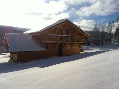 Photo for Chalet Xonrupt-Longemer for 10 peronnes south with Wifi, Jacuzzi and Sauna