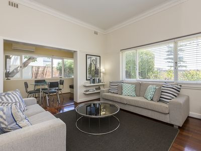 Photo for Relax at this contemporary furnished ground floor apartment in Cottesloe