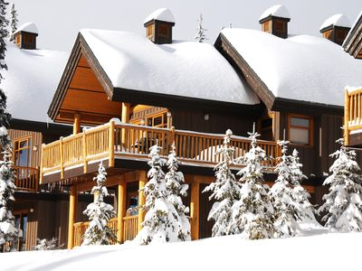 Photo for Your Getaway | Cozy Slopeside Big White Cabin with Private Hot Tub