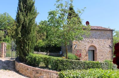 Photo for Cottage with Private Garden BBQ and Panoramic Pool, 1 km from the Village