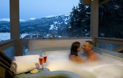 Photo for Whistler Elegance - Designer's Luxury 4 Br Home - hot tub with spectacular views