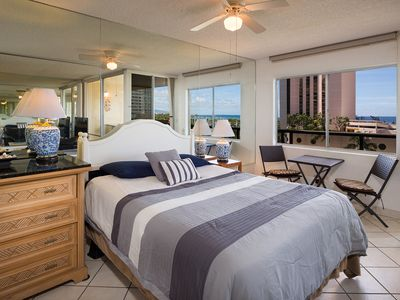 Photo for A spacious ocean view two bedrooms, one bath unit in Heart of Waikiki