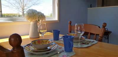 Dining at Apple Tree Cottage