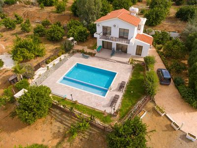 Photo for Villa Adonis: Large Private Pool, Walk to Beach, Sea Views, A/C, WiFi