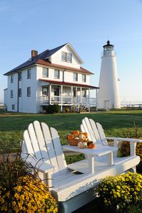 The Cove Point Lighthouse and Keeper's Cottage... an idyllic place to unwind