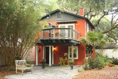The Boathouse is located on 3-Acre Riverfront Estate with Deep Water dock