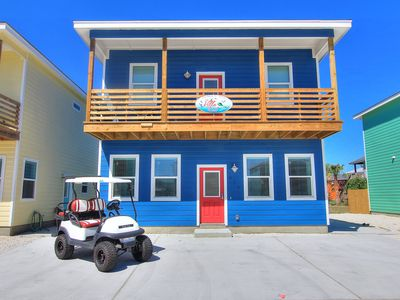 Photo for The Villa Reel: Free Golf Cart, Pool, Walk to Beach, Ocean Breezes