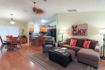 Comfy and homey! You will feel right at home the moment you walk in.