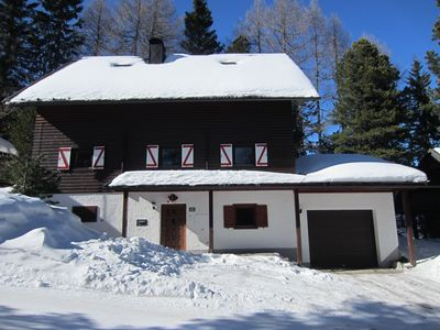 Photo for Cozy lodge at 1700m with sauna & whirlpool, right in the ski & hiking area!
