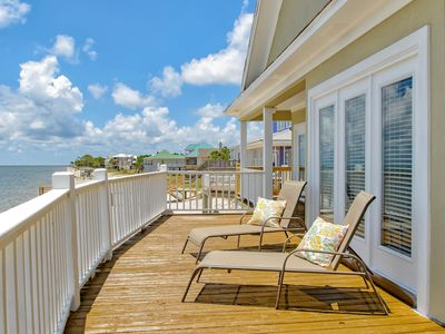 Photo for NEW LISTING! Beach home w/stellar views, fully-equipped kitchen, waterfront