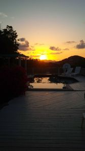 Sunset from Blue Aweigh Pool Deck