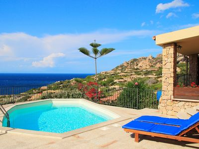 Photo for Villetta Valentina, private pool, air, excellent sea view, 300 m from the sea