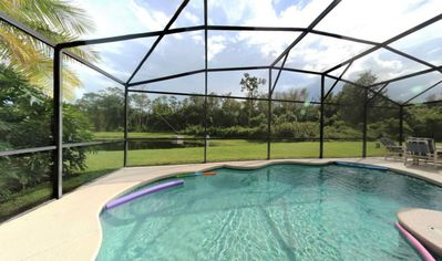 Photo for 4-Bedroom Disney Area Pool Home.  Gorgeous View!