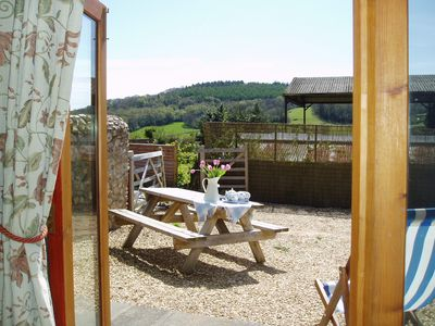 View from the french doors