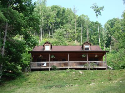 Lazy Bear Lodge In Spring and Summer On  10 Wooded Acres of Privacy to Explore.