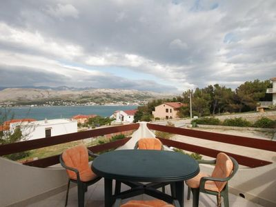 Photo for Two bedroom apartment with terrace and sea view Pag (A-6316-b)