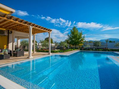 Photo for RELAX LUXURY VILLA, AMAZING MOUNTAIN VIEW, HEATED POOL, GYM, SPORTS GROUND